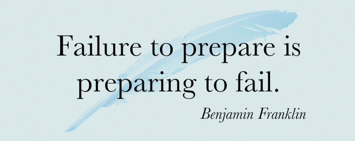 fail to prepare prepare to fail essay Can people be successful without being prepared these words belong to benjamin franklin who was a adult male of action over his life-time his wonder and passion.