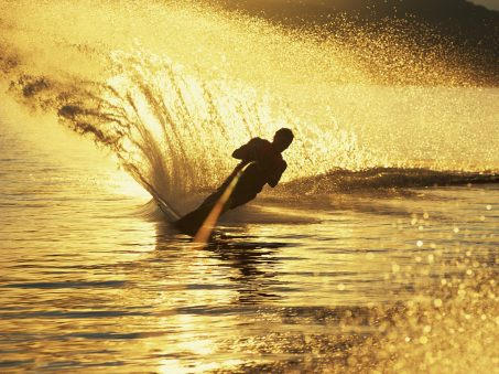 water_skiing_at_sunset